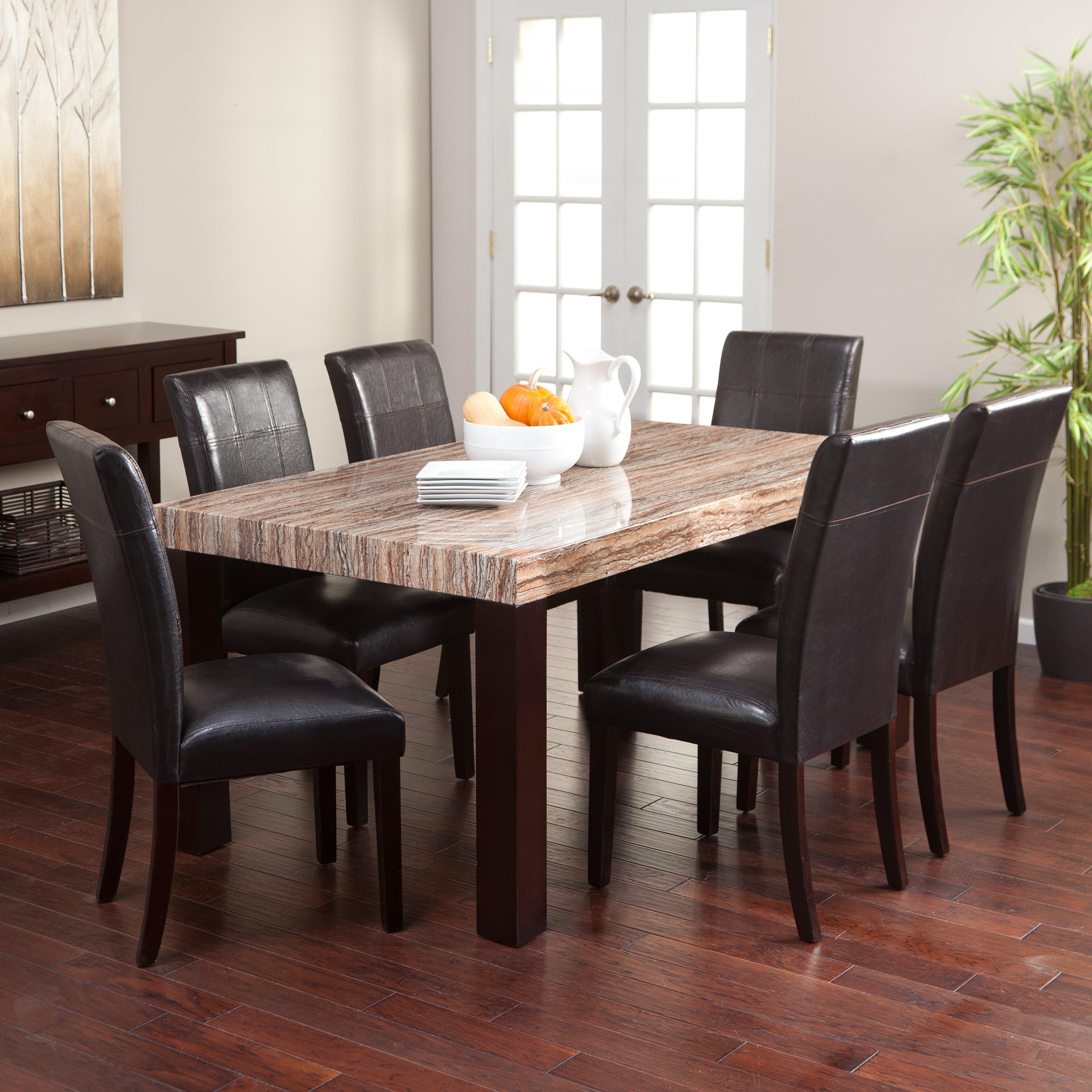Kitchen table sets carmine red 7-piece dining table set |  Hayneedle KGCDHVK