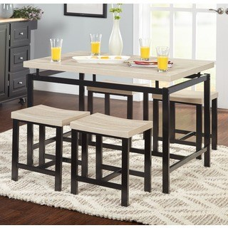 kitchen table sets simple living delano two-tone 5-piece dining room set MQEREJE