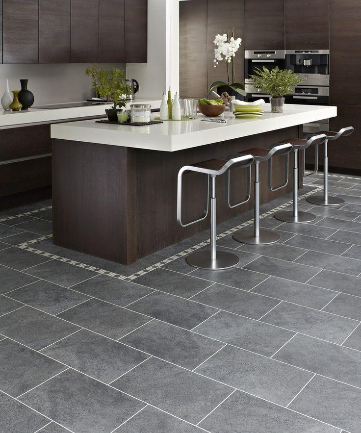 Kitchen tile floor gray tile with dark brown cabinets    Kitchens    pinterest    dark JYUDSKH
