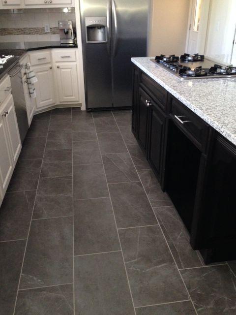 Kitchen tile floor slate look Kitchen tile floor MJHLSBZ
