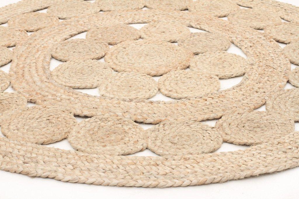 kochi hand-woven round jute rug RVPKUHW