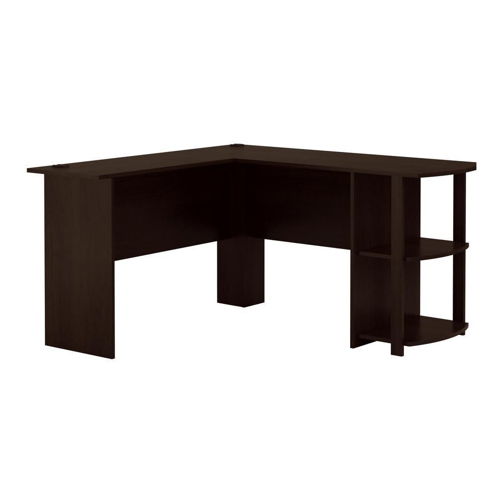 L-desk Ameriwood Home Quincy Espresso L-desk NODYHOP