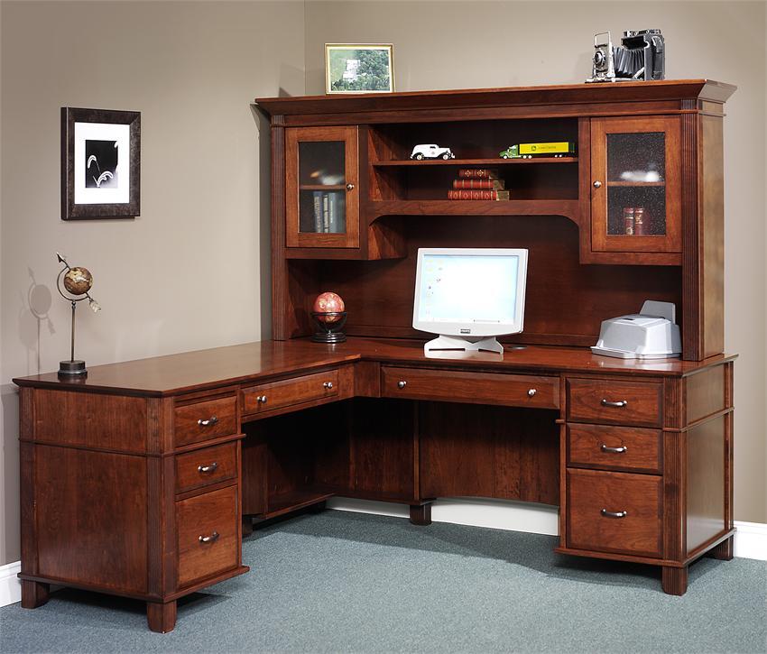 Amish Arlington Executive l-shaped desk l QNRVDYB desk