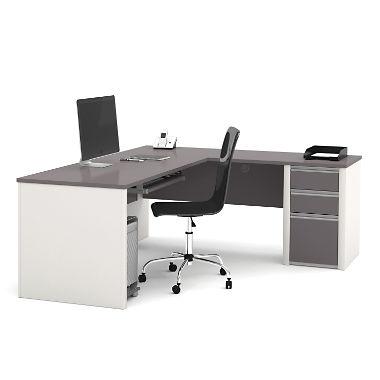 L-desk bestar connexion officepro 93000 L-desk with 3 drawers, choose color GZEYKMK