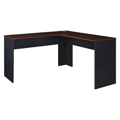 L-shaped desk eastcrest modern L-shaped desk - cherry gray / slate gray - room u0026 joy GCDFJJX