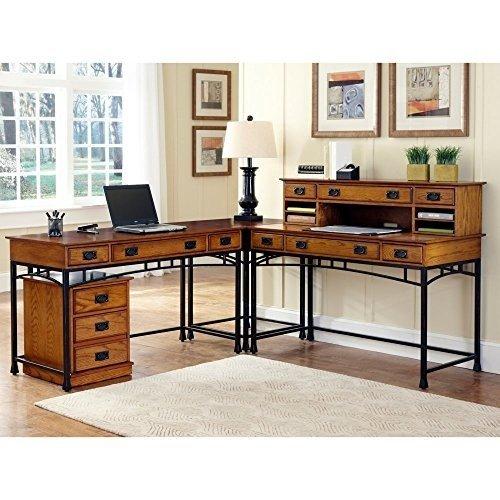 L-Shaped Desk Home Styles Home Styles Modern Craftsman Corner L-Shaped Desk with Optional IVXJFKX