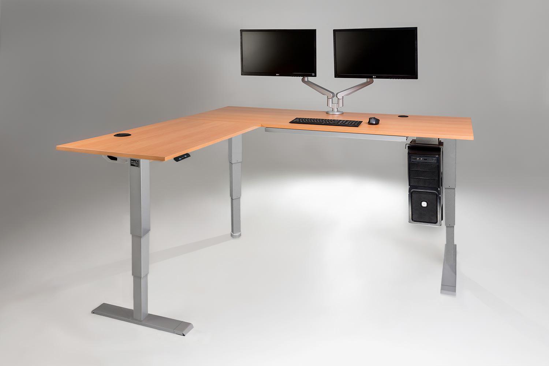 l-desk multitable l-shaped standing desk with all accessories KVIKUQY