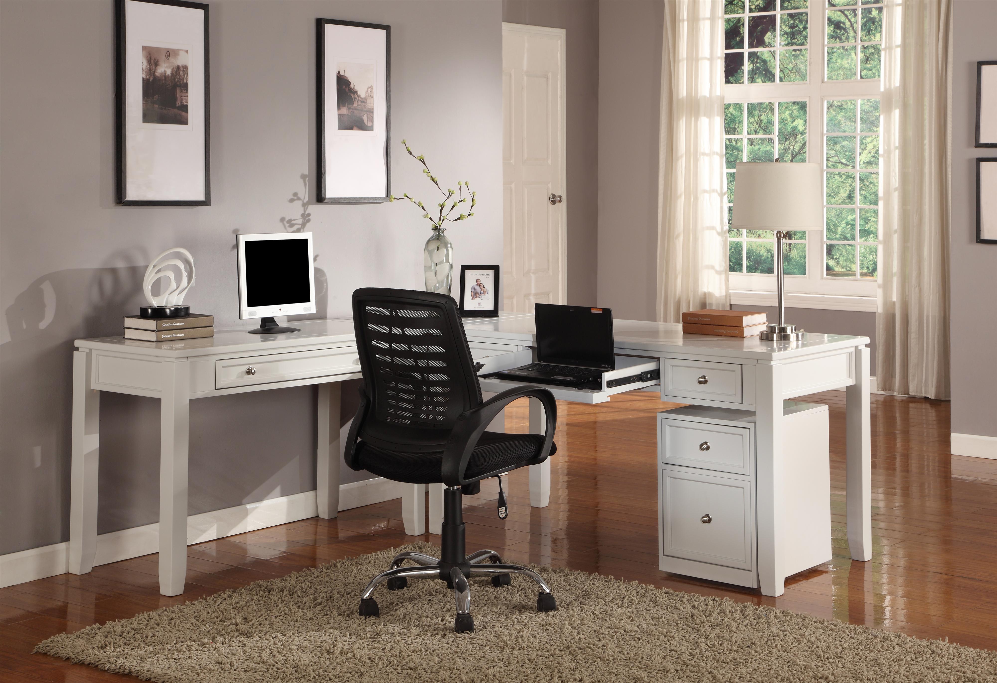 l-desk parker house boca three-part l-desk - item number: boc- ILACKGE