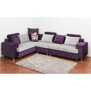 l-shaped sofa set in purple and white MHIMRIA
