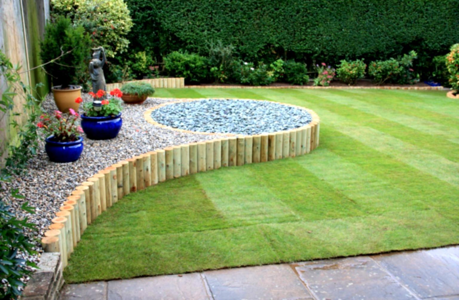 Landscape ideas for the backyard simple design landscaping idea basic garden shed ZBDJMSZ