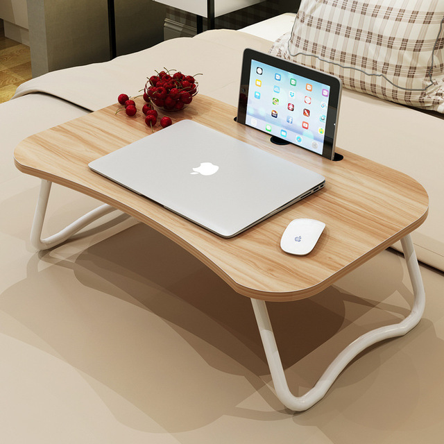 Laptop bed table with simple dormitory lazy desk on the bed Desk can be set up ROPGCDZ