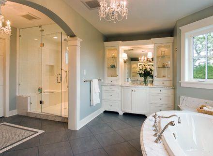 Bathroom ideas to browse |  Big bathroom design, modern big.