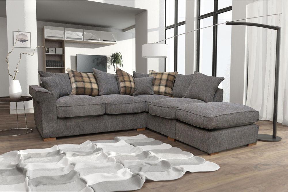 large corner sofas new fable large corner sofa with free stool.  cheap at ZALRASS