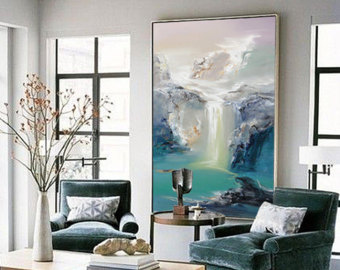 large wall art abstract oil painting, contemporary art, hand paint large art, extra large BALMCXG