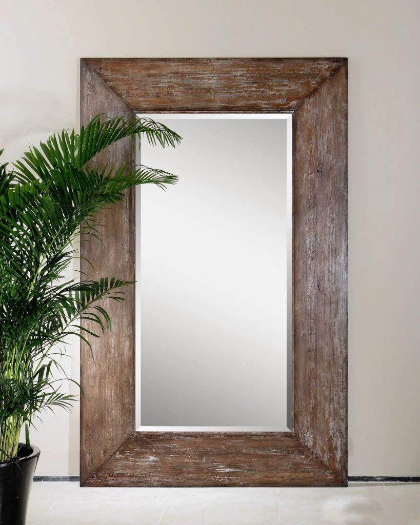 large wall mirror amazon.com: extra large wall mirror oversize rustic wood xl luxe full OBGAJGW