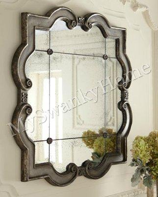 large wall mirrors large quatrefoil wall mirror ornate silver leaf frame 36u201d HJAQZHS