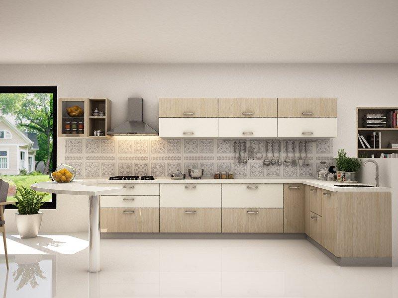 leah L shaped modular kitchen designs KKQGBTU