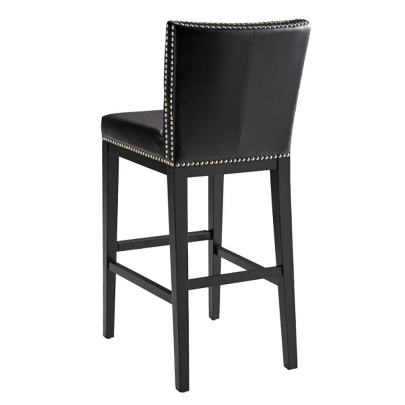 Leather bar stool with backrest JVCOZJV