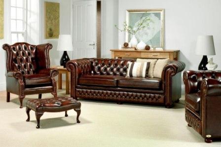 IICKEUS leather Chesterfield sofa
