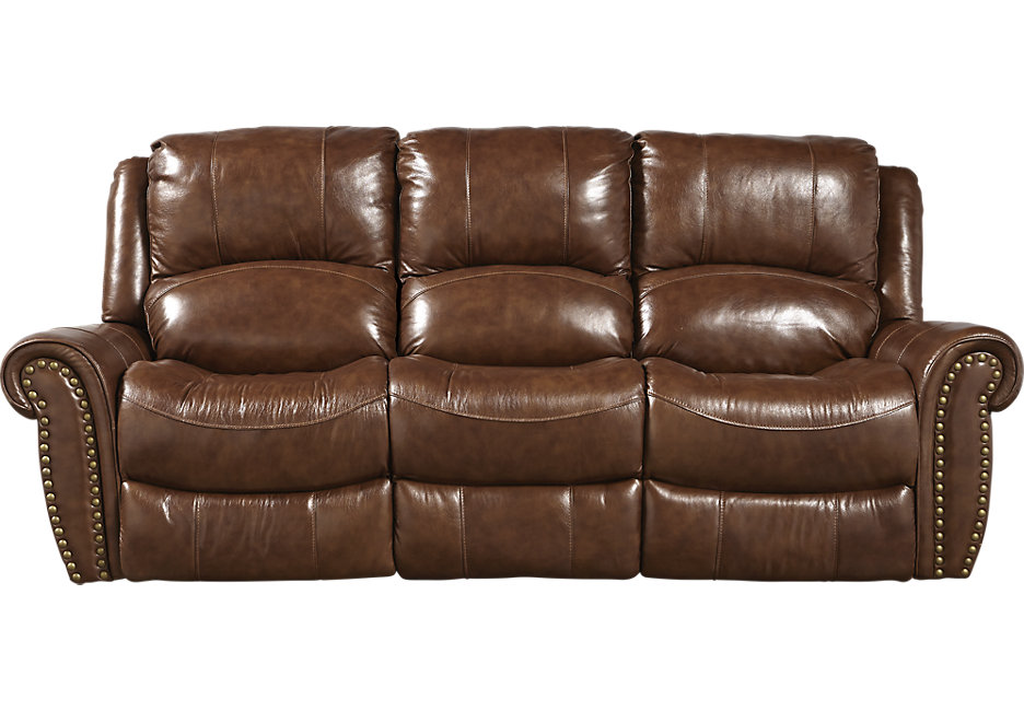 Leather furniture Abruzzo brown leather sofa bed - leather sofas (brown) VFBYXWH