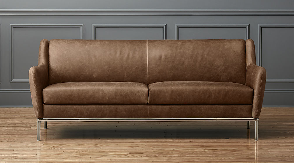 Leather furniture Alfred Braun leather sofa in a used look + Reviews |  cb2 KSBLAZN