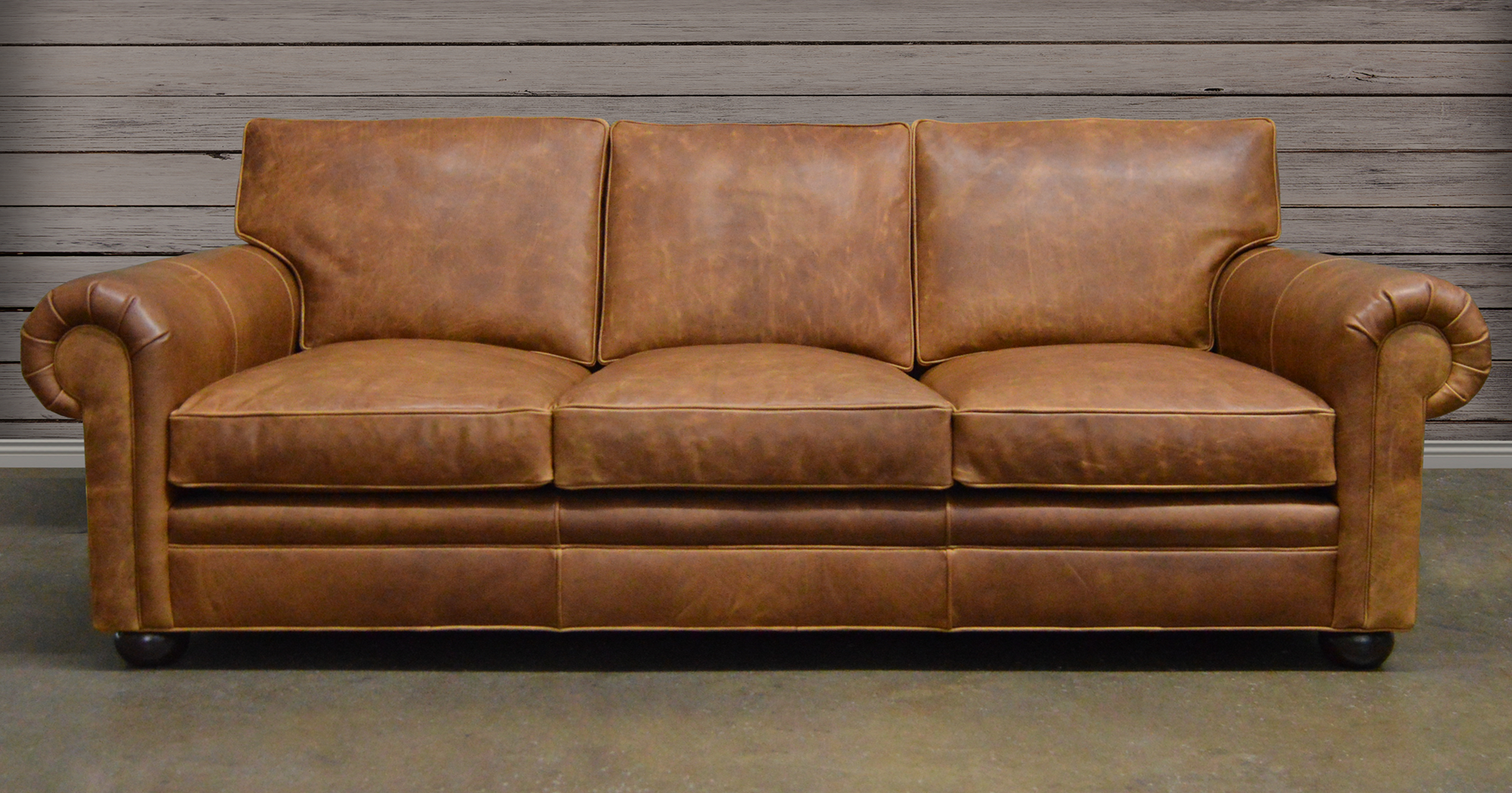 leather furniture langston leather sofa made of italian brentwood brown leather HATRQFM