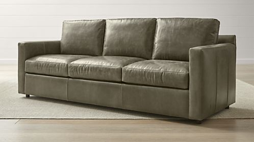 Leather sofa Sofa beds Queen-size Barrett leather 3-seater Queen-Sleeve TQTILYS