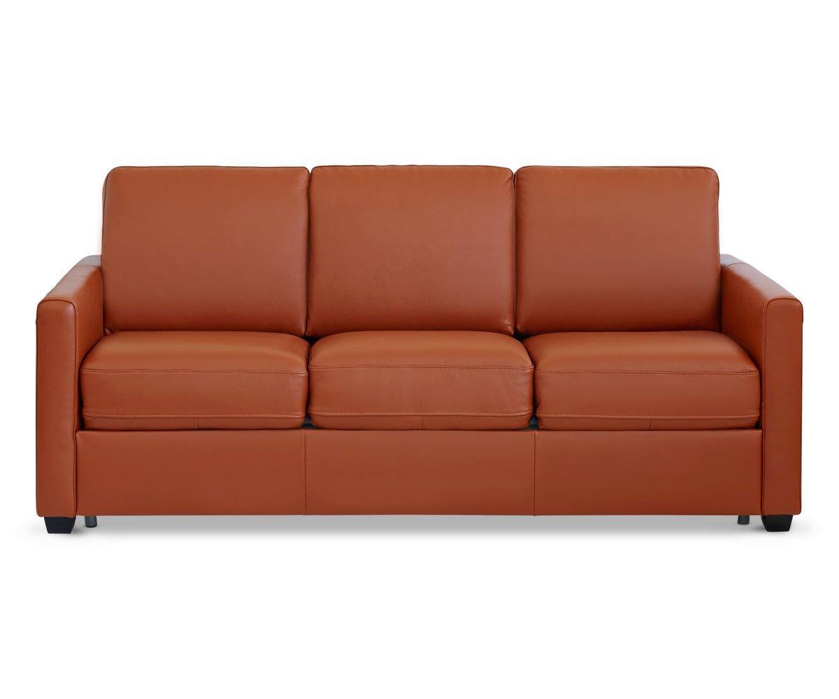 Leather sofa sleeper Queen-Size Jonas leather sofa sleeper LDKTMXG