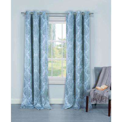 light blue curtains l blackout lead-through plate in light blue (2-pack XFXKLWG