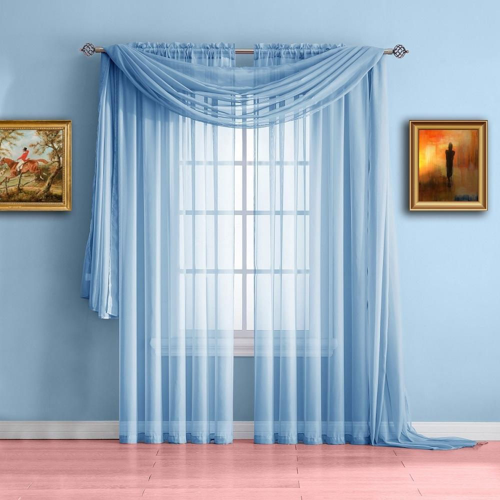 light blue curtains warm living designs baby blue window scarf valance, transparent blue curtains ... KUCBXQE