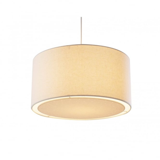 Lampshades Edward Easy Fit cream colored ceiling lampshade GNJHUEH