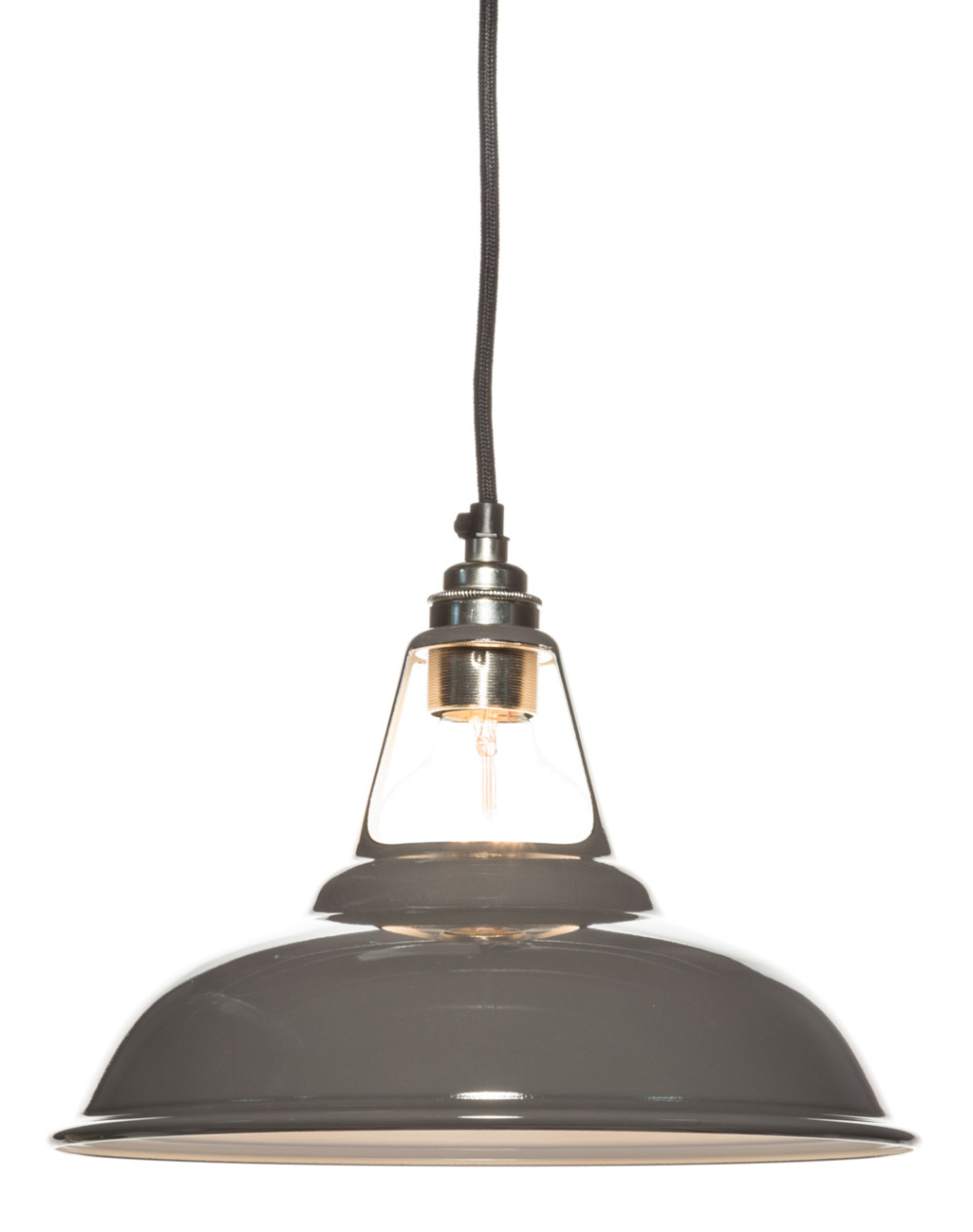 light shades of gray enamel Coolicon lampshade |  280mm ZJBQLFP