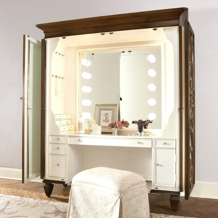 Illuminated make-up vanity sets Bedroom vanity sets also with chest of drawers white MTYTGQS