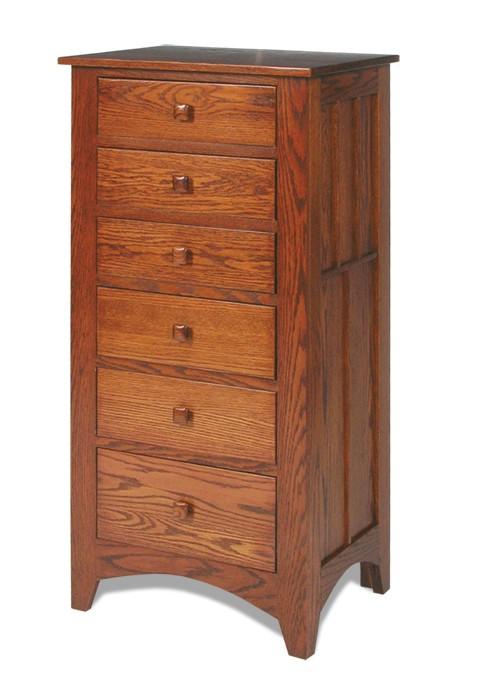 Lingerie chest of drawers Amish Craftsman Mission Lingerie chest PDTFWAZ