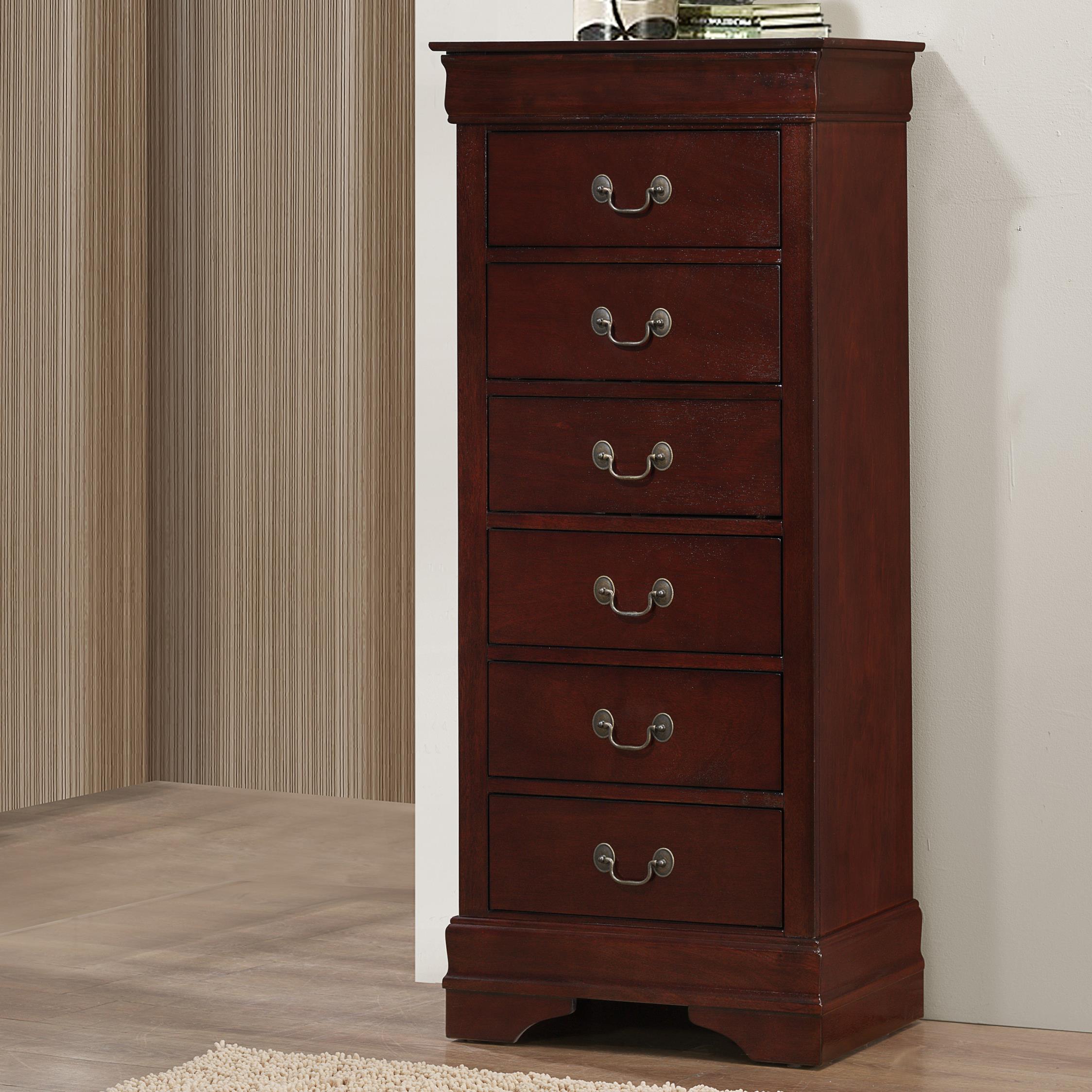 Lingerie chest of drawers crown mark b3800 Louis Phillipe lingerie chest - item number: b3800-6-hd KGKYKQE