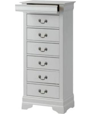 Lingerie chest of drawers Lerche Manor Corbeil 6 drawers Lingerie chest of drawers Lerche2411 Finish: White EDDKZBZ