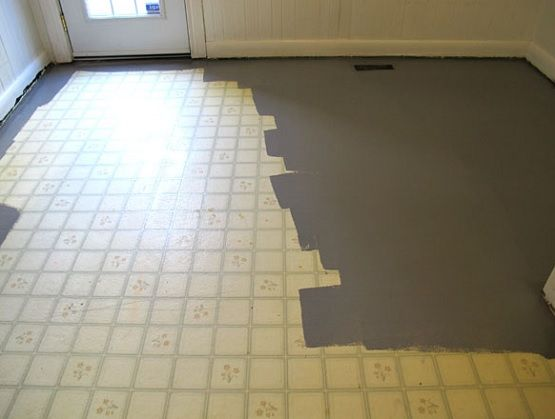 Linoleum flooring how to paint old linoleum kitchen floors |  paint floor painting, iron and LUTCRD