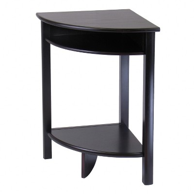 liso corner table, cube storage and shelf - dark espresso - Winsome ASZXYBO