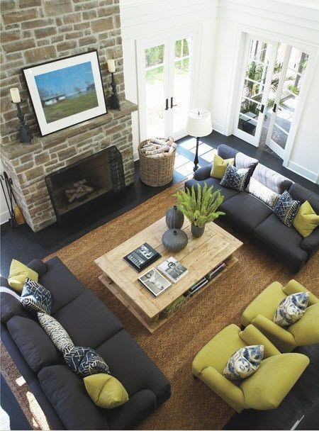Furniture layout and home decor ideas: balance and symmetry