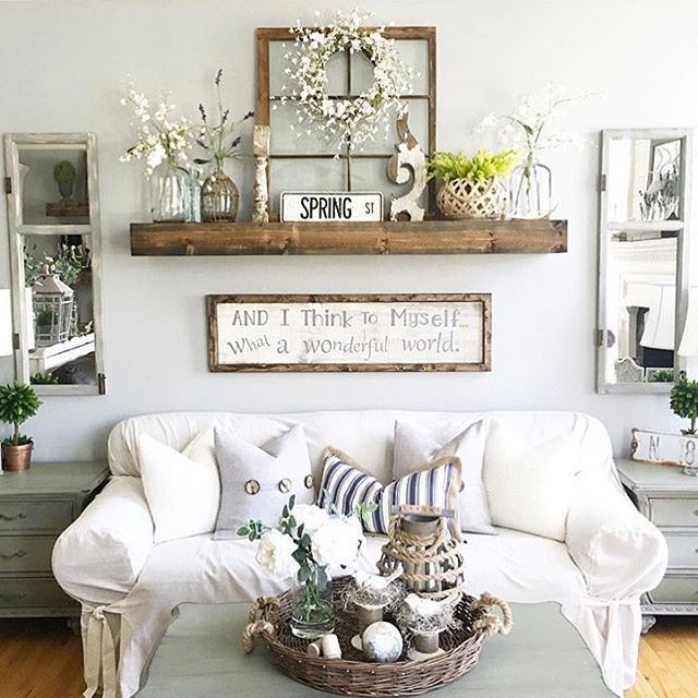 Living room decoration ideas rustic wall decoration idea with reclaimed window frames creative living room ULTCEAU