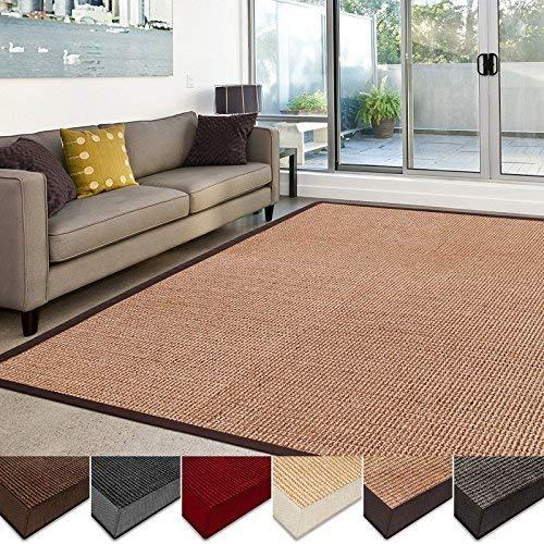 living room rugs casa pura sisal carpet    100% natural fiber carpet    non-slip RTEFUEI