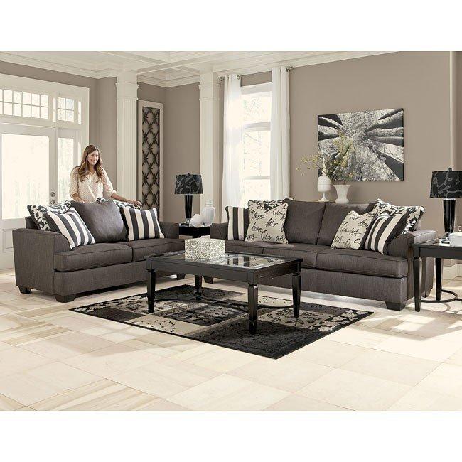 Living room sets levon charcoal living room set MOLQWDP