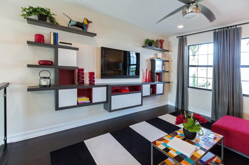 27 beautiful living room shelves - Home Stratosphe