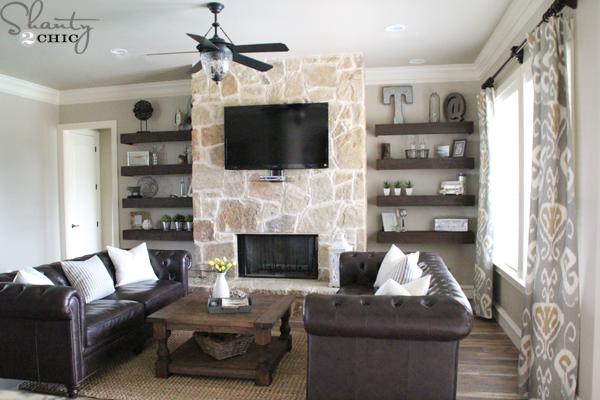 Living Room Shelves DIY Floating Shelf Tutorial CZPSVRJ