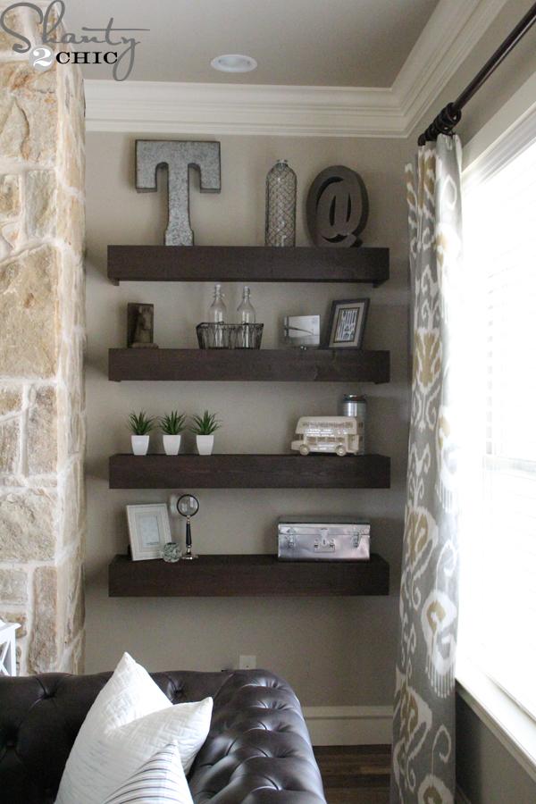 living room shelves diy floating shelves YYRNEMG