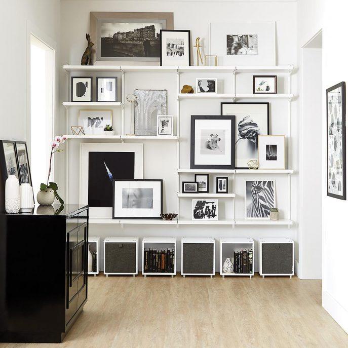 Living room shelves ... large living room: decorating ideas for shelves in the living room LNNEAOB