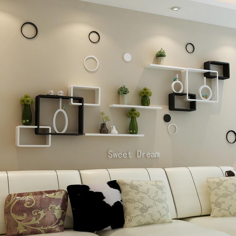 Living room shelves Shelves for living room wall fresh, cozy design in plan 6 with KINSVSO