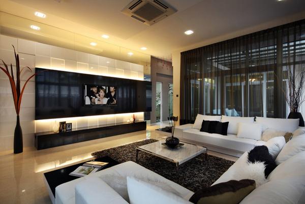 15 Modern Living Room TV Ideas    Home design love