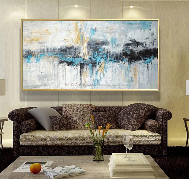 living room wall art abstract art painting modern wall art canvas prints large murals MDAVQTV