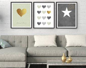 Living room wall art, home decor, sale giclee set, modern art, art EDNYJSS